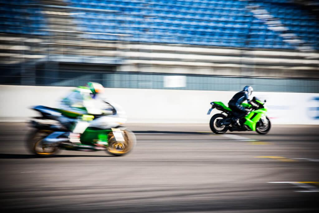 Motorräder auf der Rennstrecke